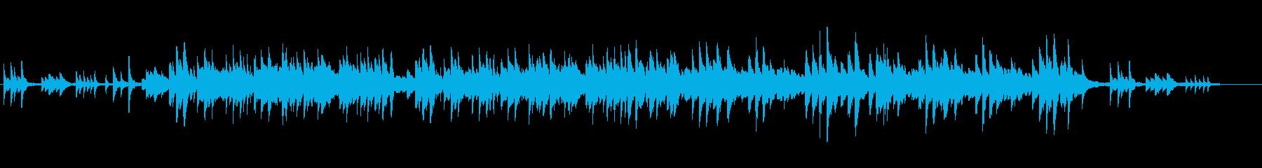 ピアノの切ない思い出の旋律の再生済みの波形