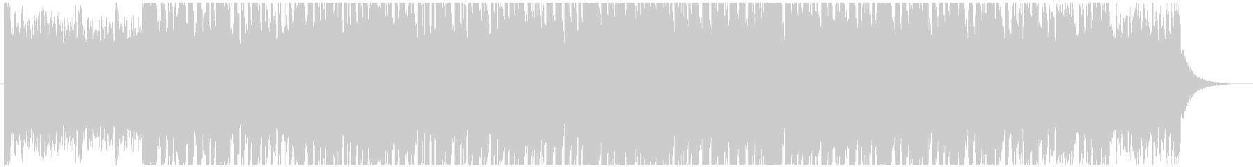 不撓不屈で暗いトンネルを進んでいくBGMの未再生の波形