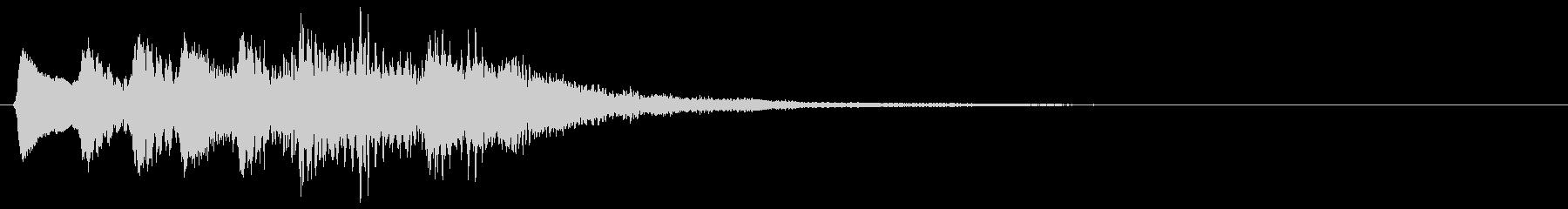 レトロな上昇音 タラララ 8bit ↑の未再生の波形