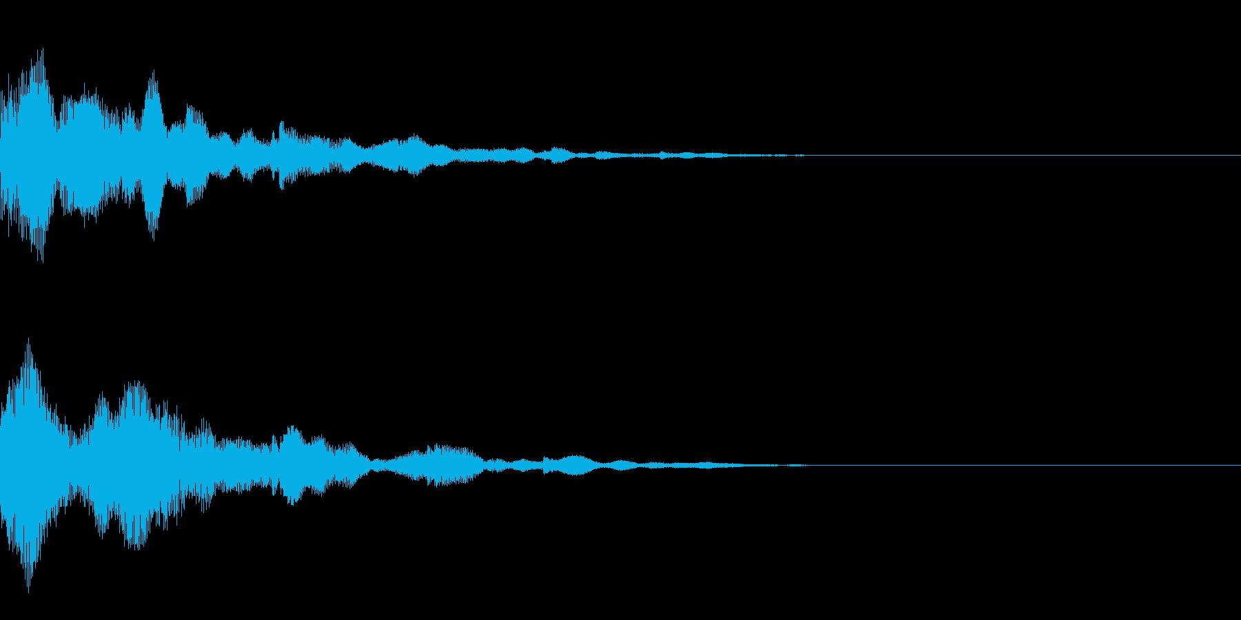 システム音34_Jの再生済みの波形