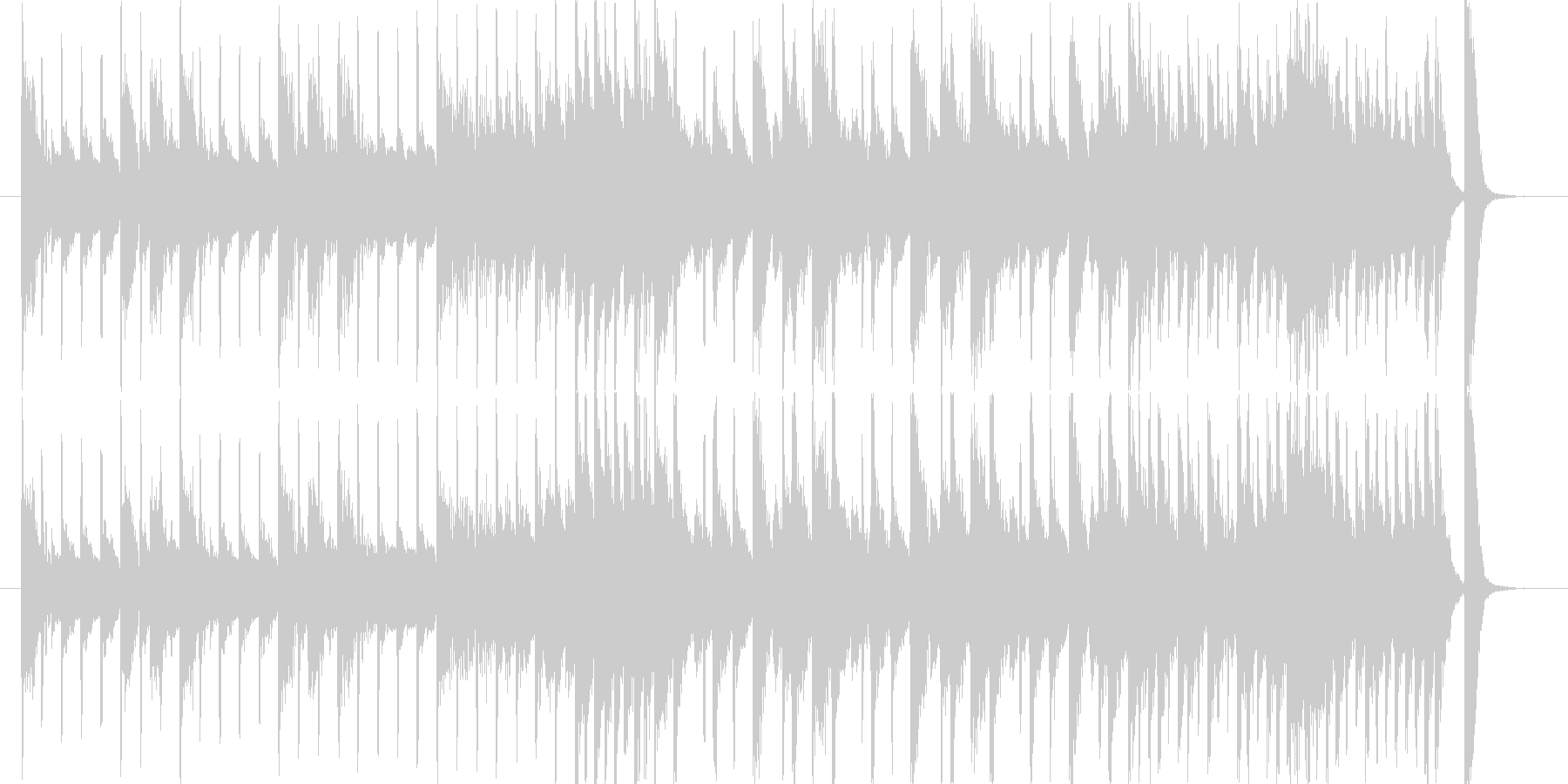 ピアノとドラムだけの曲ですの未再生の波形