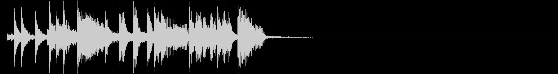 場面転換をするトランペットのアイキャッチの未再生の波形
