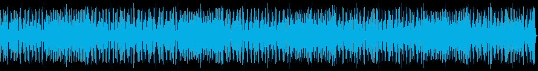 アップライトベース、ピアノ、ブラシ...の再生済みの波形