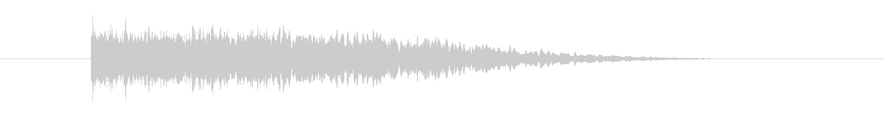 ヒューンというSF風の音の未再生の波形