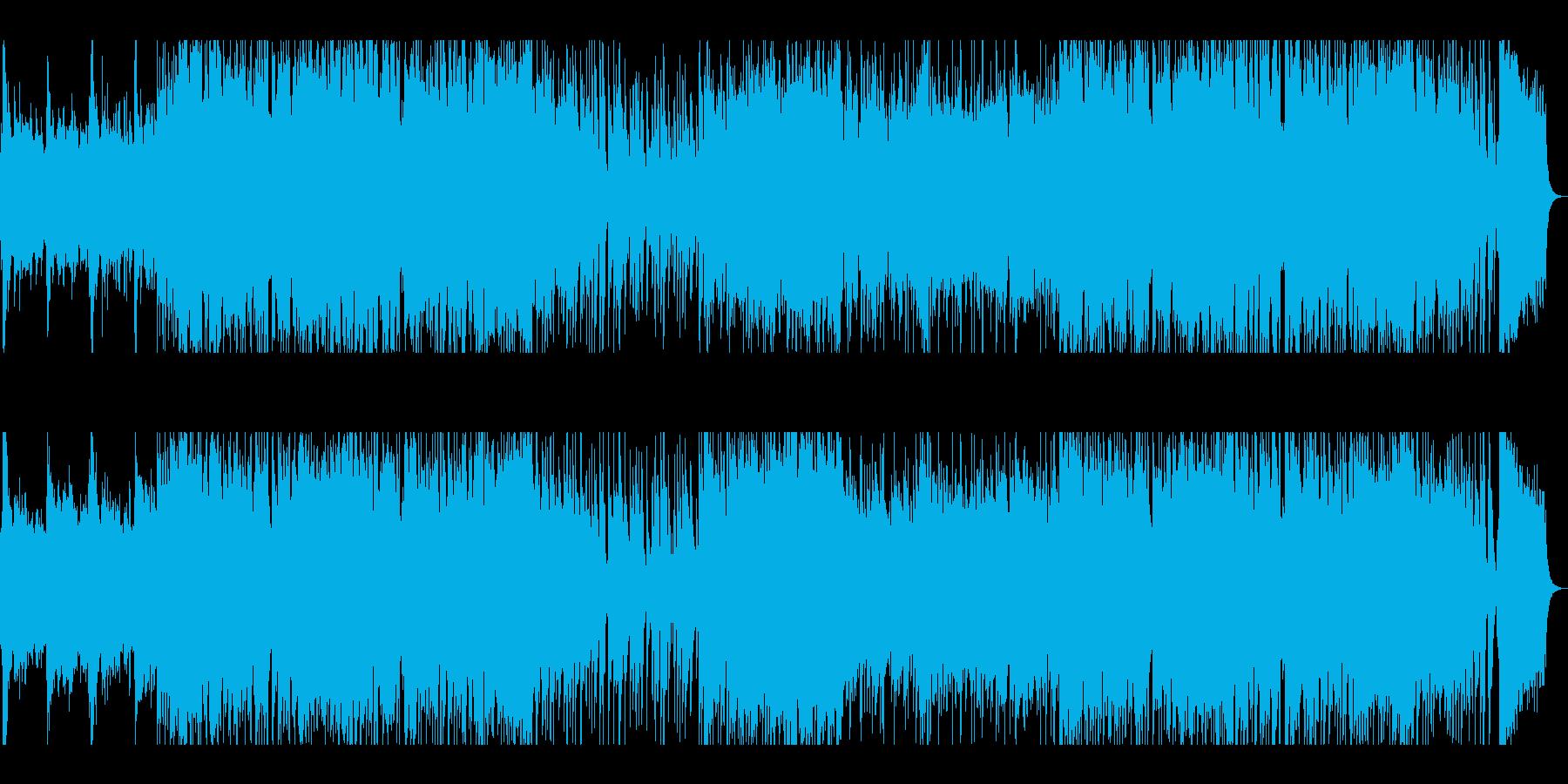 華やかで賑やかなブラスが響く入場曲の再生済みの波形