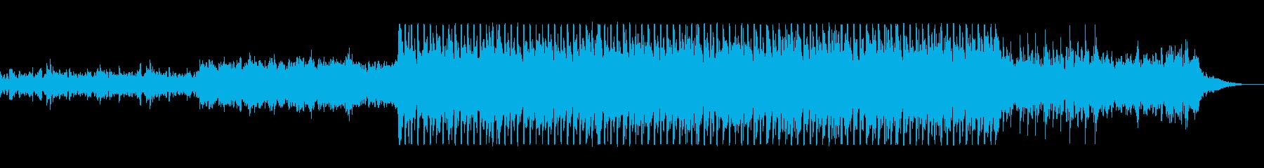 グラス系シーケンサーの軽やかテクノポップの再生済みの波形