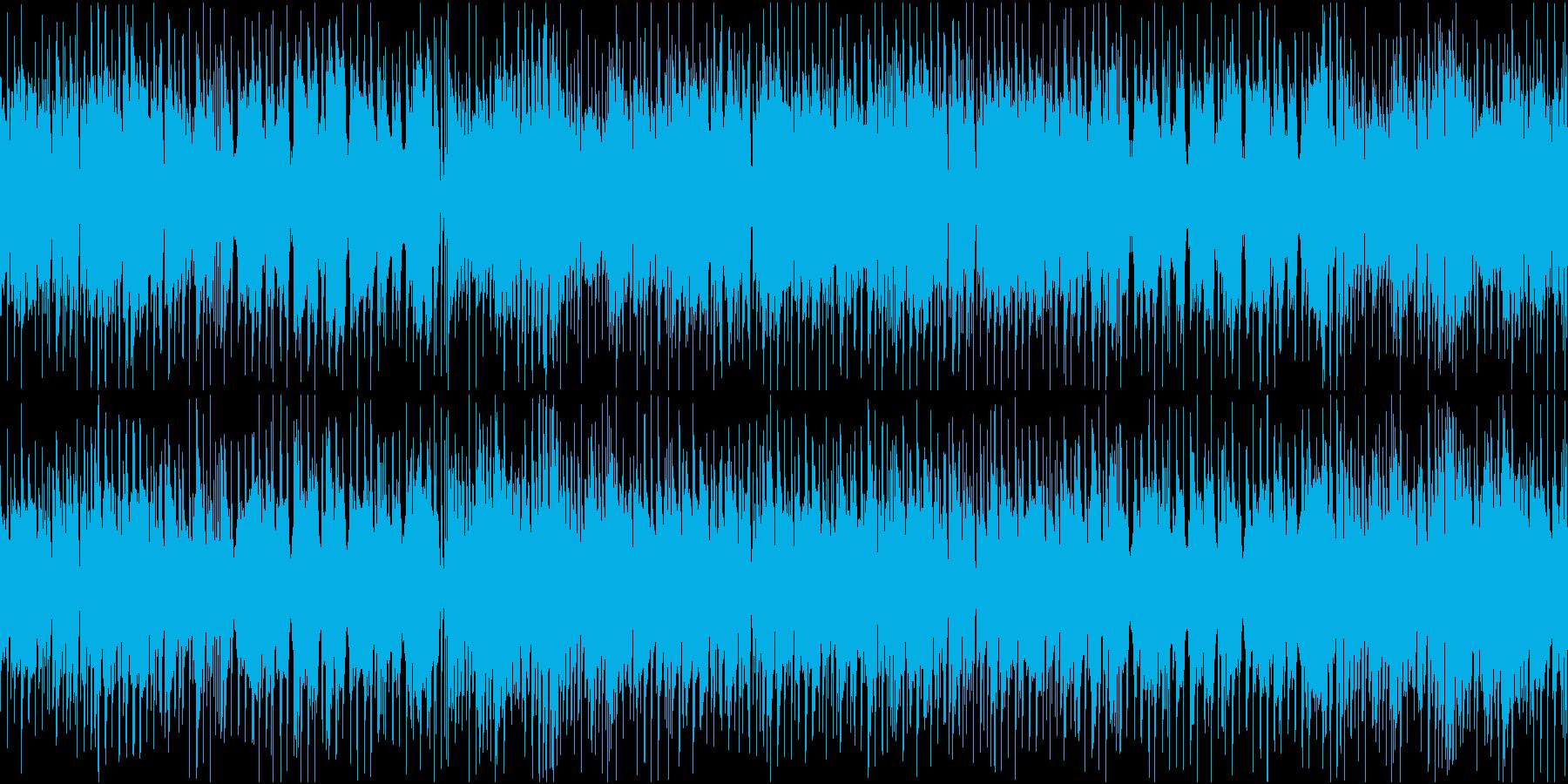 ポップで明るい爽やかな可愛い日常系BGMの再生済みの波形