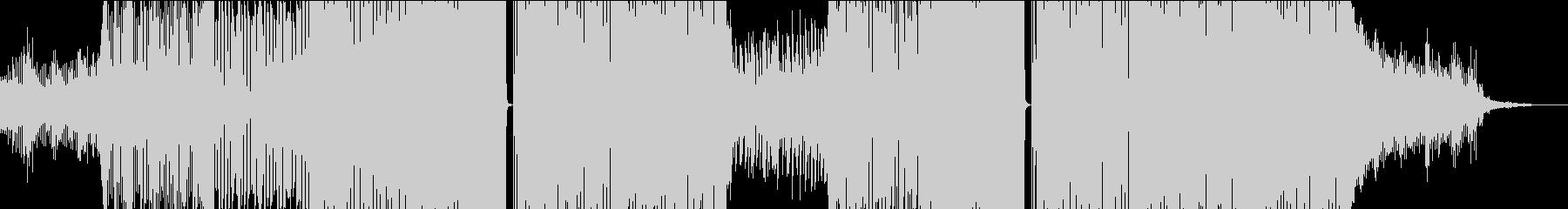 EDM感もある駆け抜けるトランス曲の未再生の波形