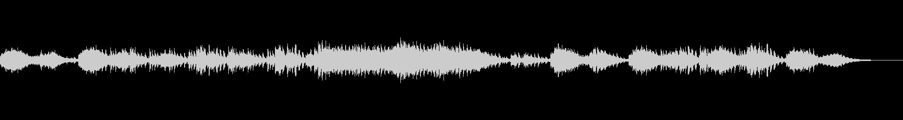 ミステリアスで壮大な響きのメロディーの未再生の波形