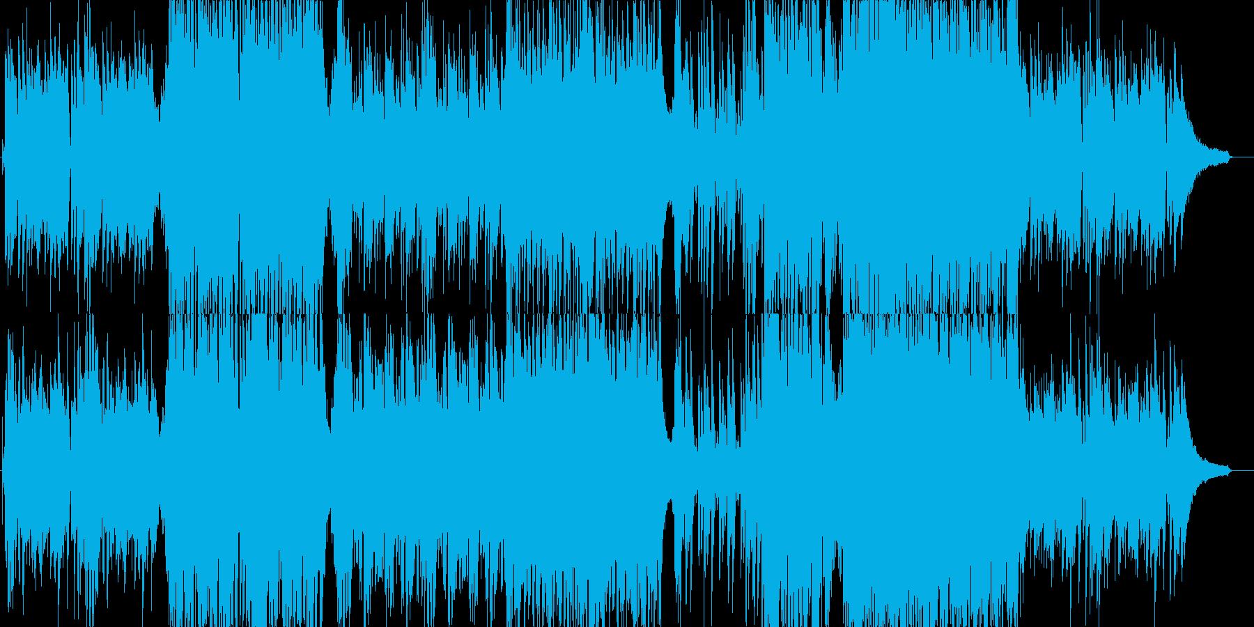 アップテンポのJazzyな楽曲の再生済みの波形