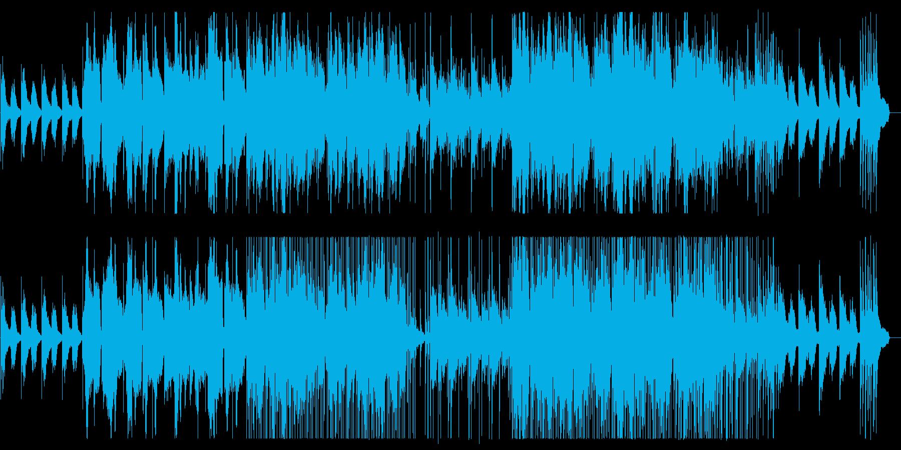 美しく幻想的な弦管楽器シンセサウンドの再生済みの波形