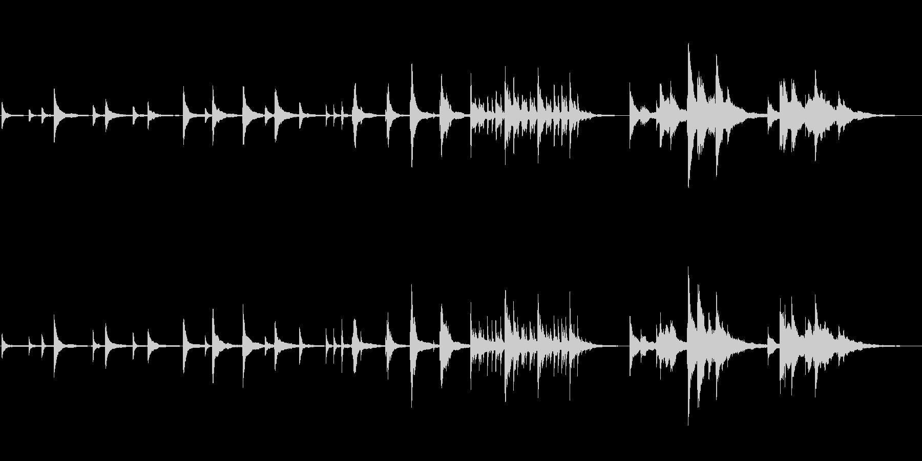 赤ちゃんの誕生シーン向け ■ ピアノソロの未再生の波形