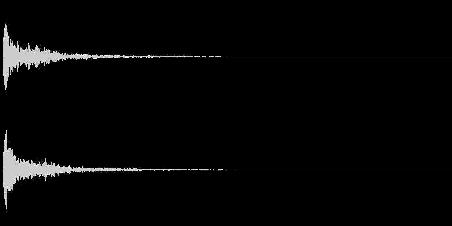発表シリーズドラムロール0秒の未再生の波形