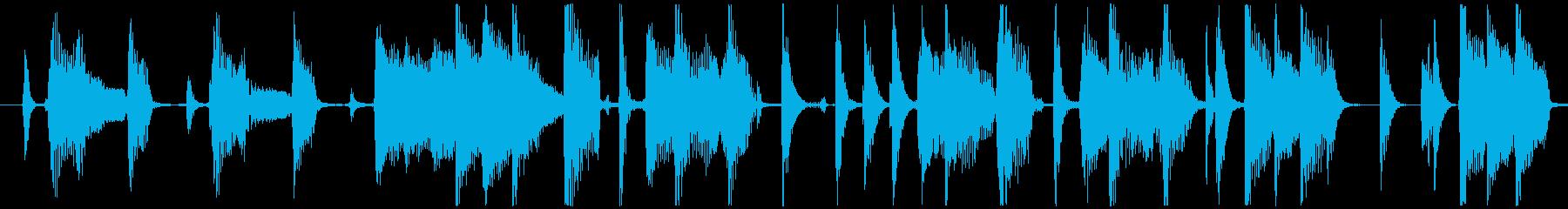 ロック調アコーステックギター 8ビートの再生済みの波形