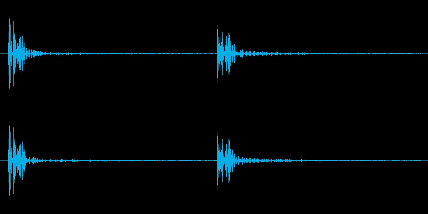 足音の効果音 パターンB 重量感ある足音の再生済みの波形