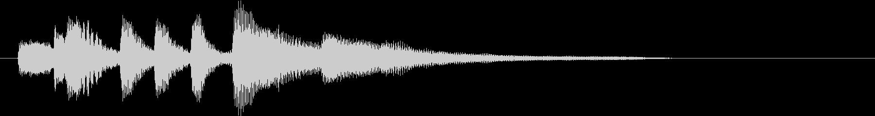 ピアノのおしゃれでシンプルなジングルの未再生の波形