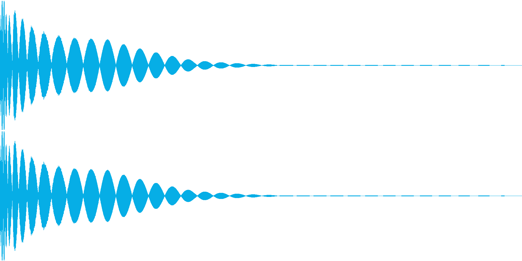 DTM Kick 44 オリジナル音源の再生済みの波形