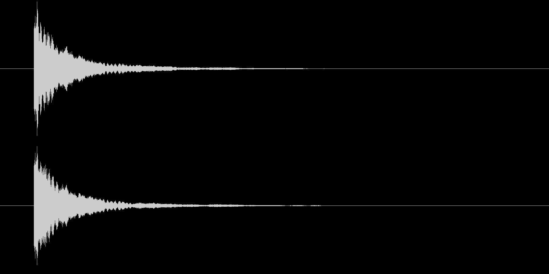 キラーン①(星の輝き・瞬く・きらめく)の未再生の波形