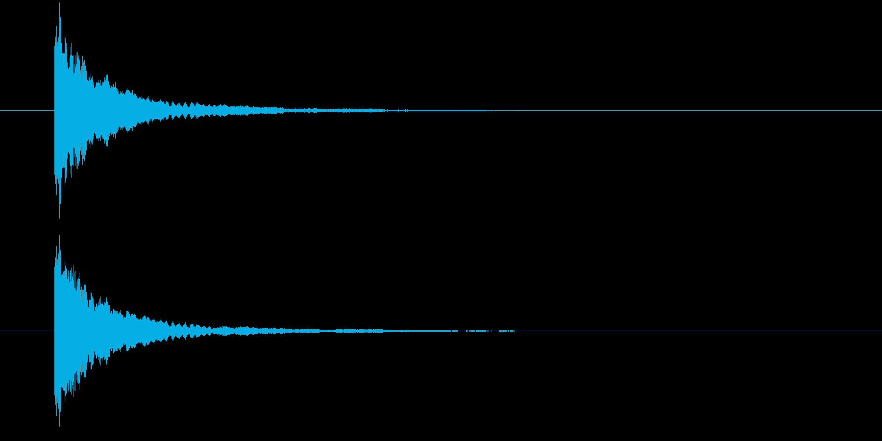 キラーン①(星の輝き・瞬く・きらめく)の再生済みの波形