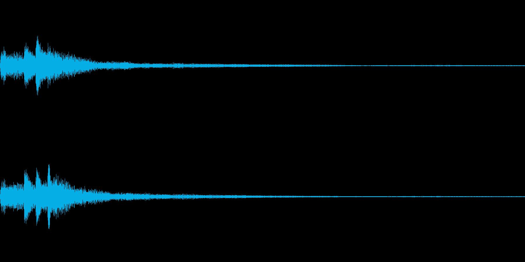 和風 ちゃららららー琴系音のジングルの再生済みの波形