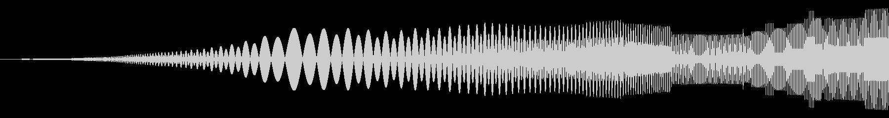 びゆぃー、ぎゆぃー みたいな音です。の未再生の波形