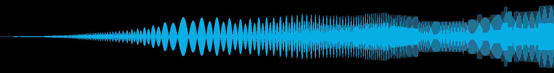びゆぃー、ぎゆぃー みたいな音です。の再生済みの波形