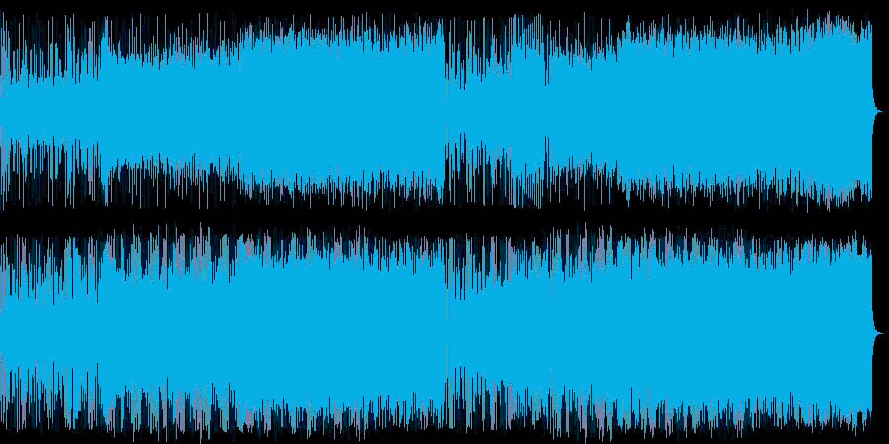 鮮明で煌びやかなポップハウス曲の再生済みの波形