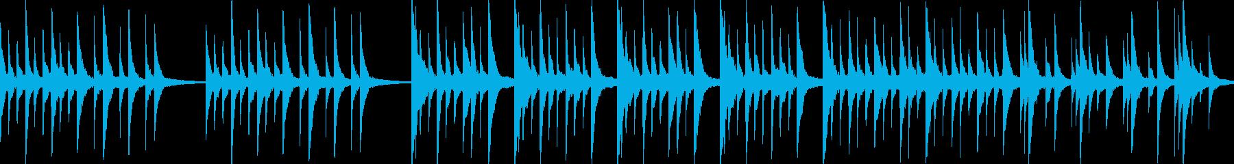 失恋・寂しい・悲しげなピアノソロの再生済みの波形