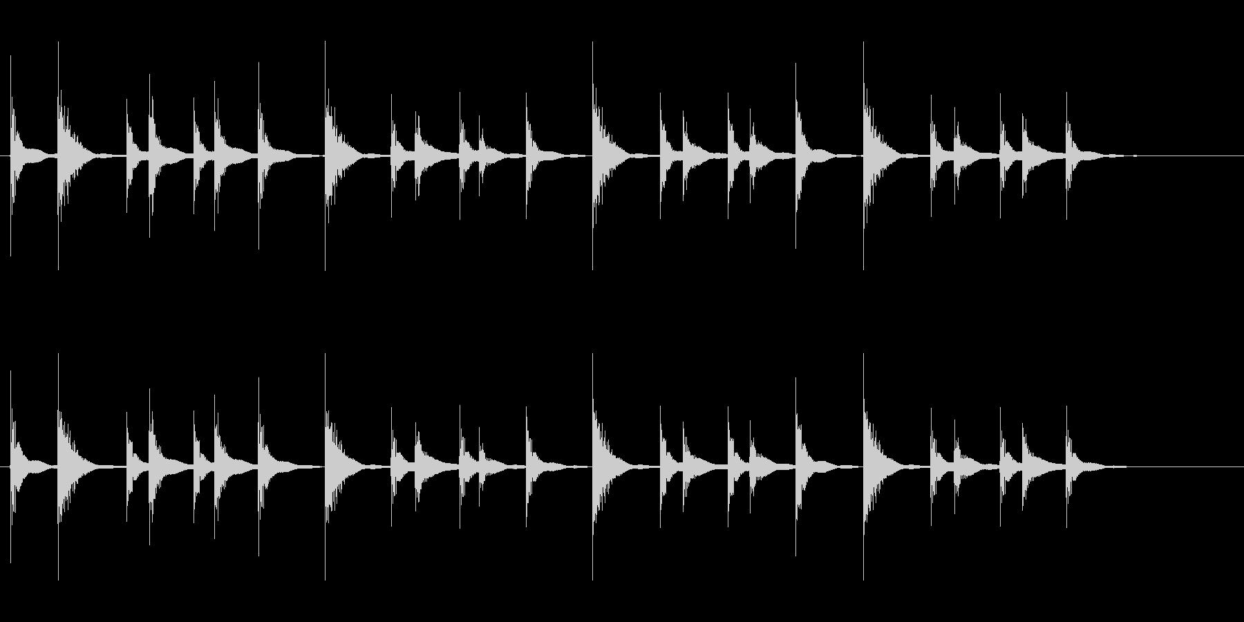 和太鼓の締太鼓のお祭りフレーズ音の未再生の波形