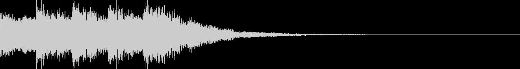 ピアノとドラムのロゴイメージ音の未再生の波形