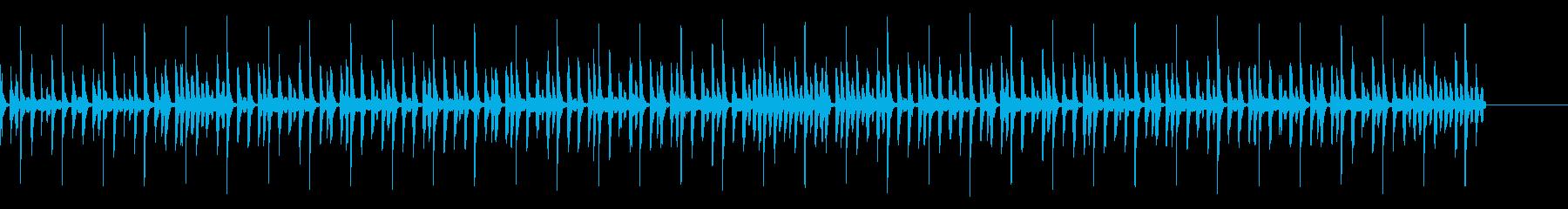 コミカルでおちゃらけたブギウギ調の再生済みの波形
