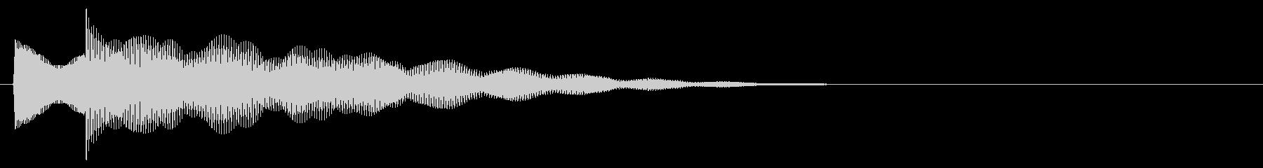 マレット系 決定音04(小)の未再生の波形