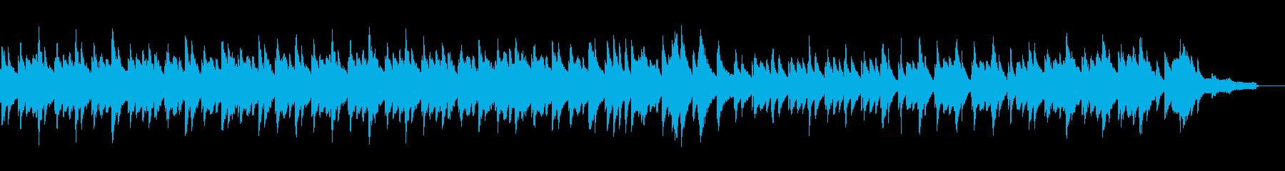 フレンチ風のおしゃれなピアノの再生済みの波形