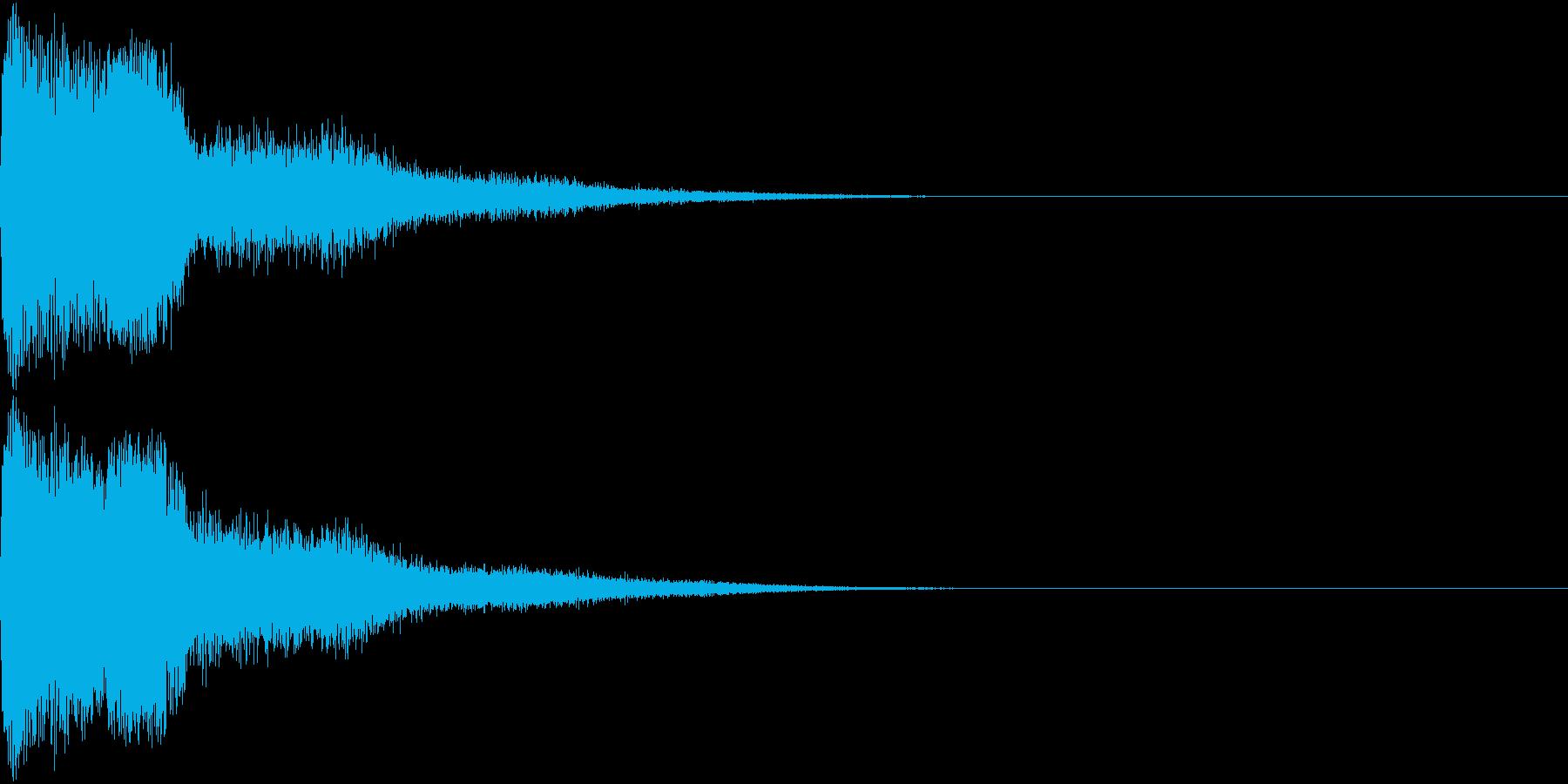 ピコン ピコ チャリン キュイン の再生済みの波形