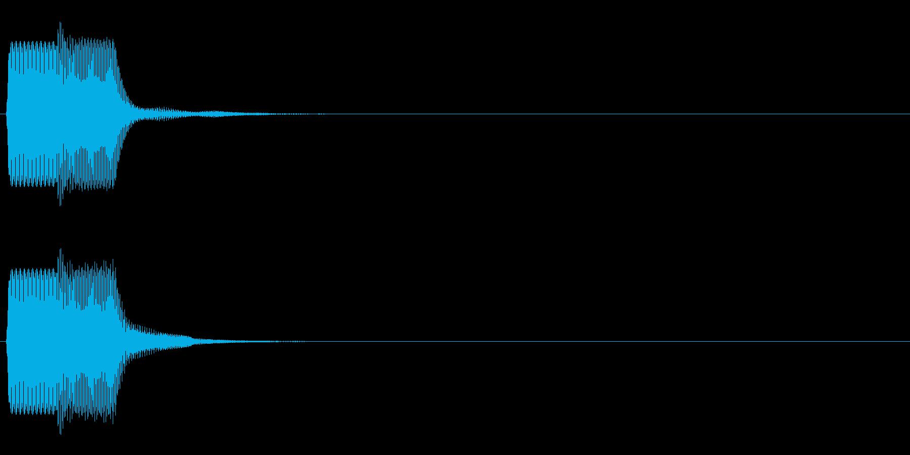 ピコン_鋸波(終了,停止,通知)_02の再生済みの波形