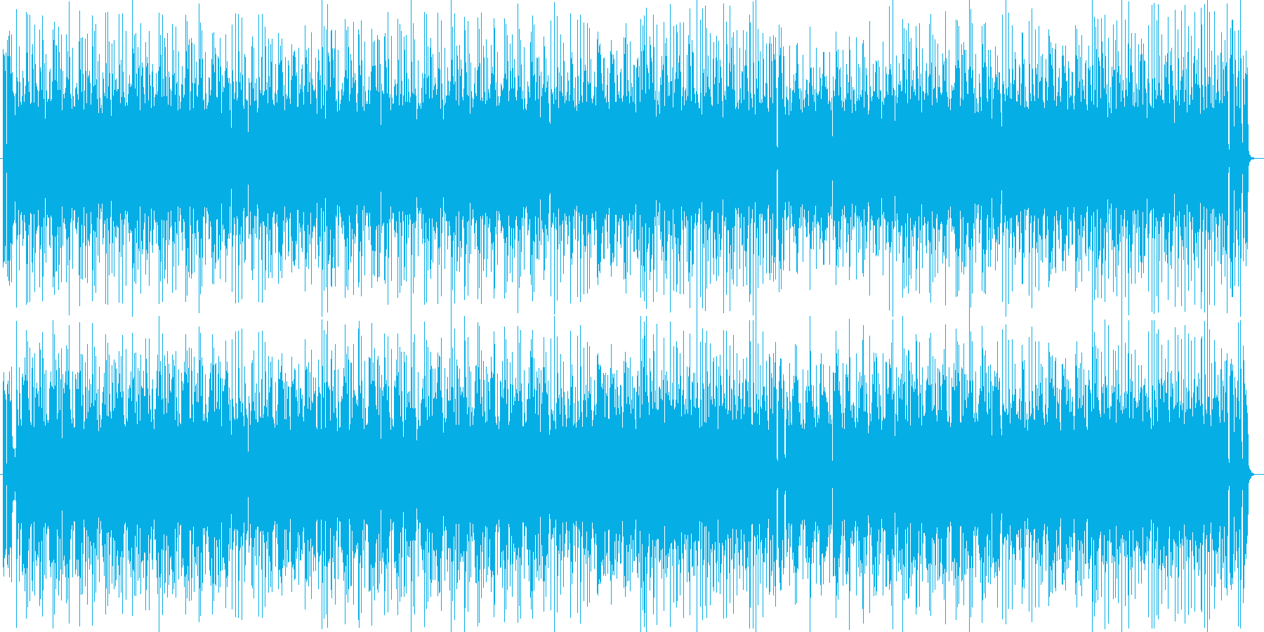 ゲームにぴったりのピコピコミュージックの再生済みの波形