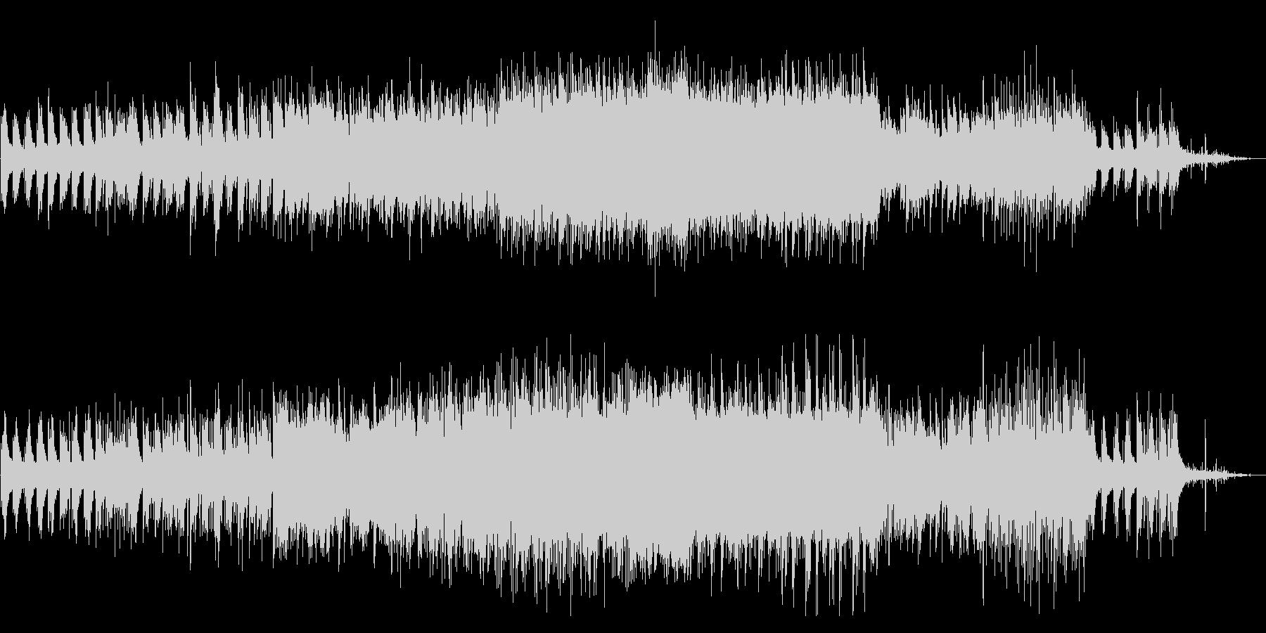 ピアノ/エレクトロニカ//不思議/雨の未再生の波形