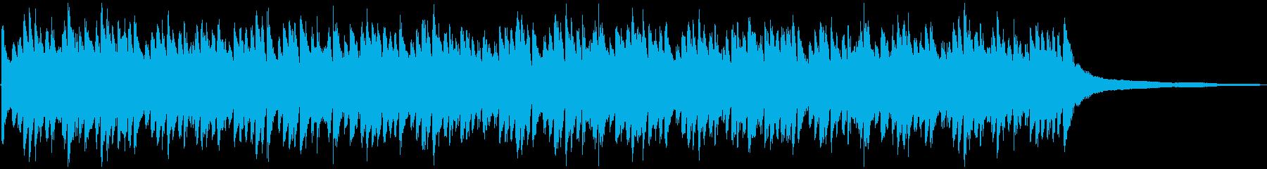 空を泳ぐようなイメージのピアノソロ曲の再生済みの波形