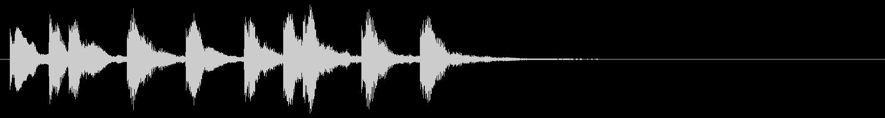 のほほんジングル018_かわいいの未再生の波形