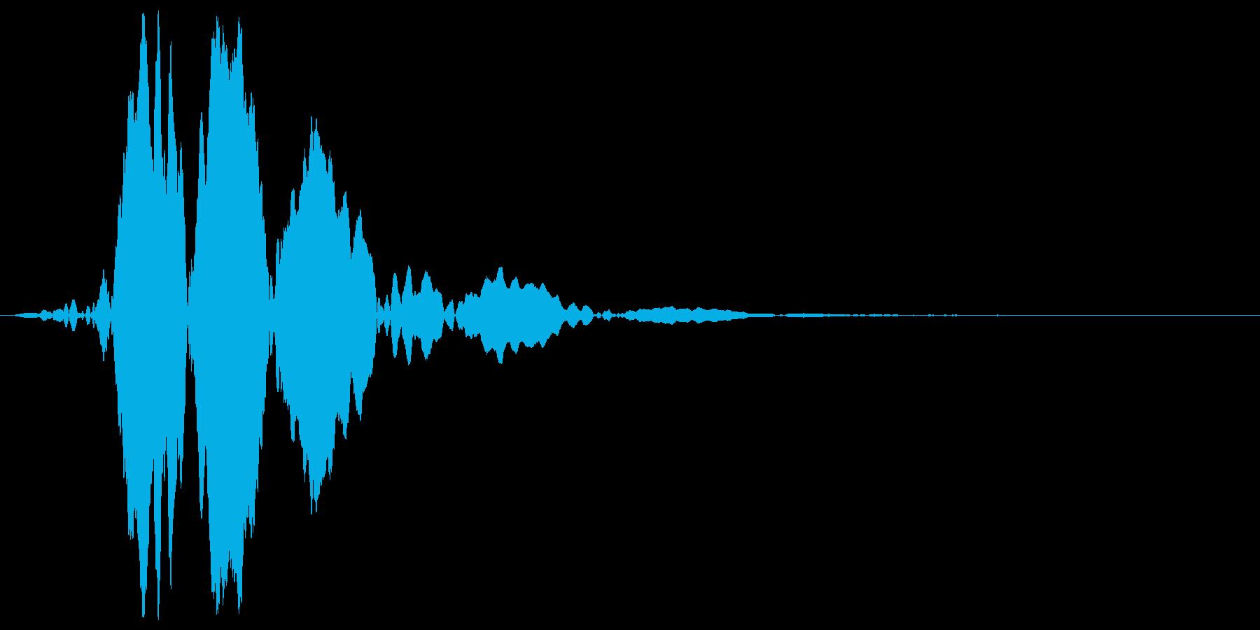 風切り音の再生済みの波形