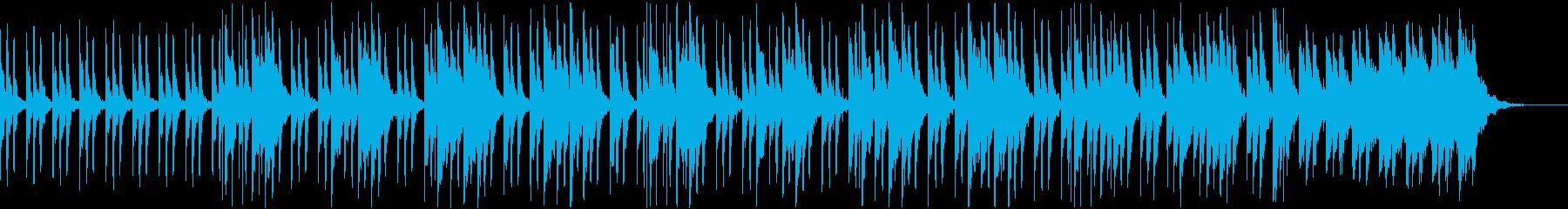 トイピアノとマリンバの奇妙なBGMの再生済みの波形