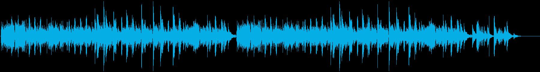 心地良いリズムのリラックスミュージックの再生済みの波形