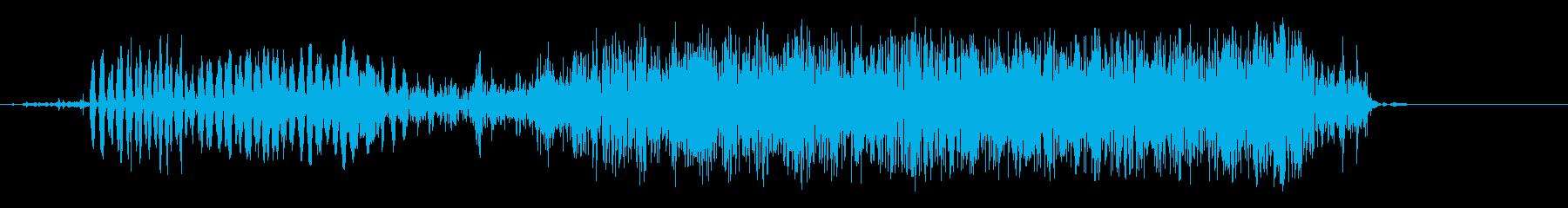 短い耳障りなノイズリップ2の再生済みの波形