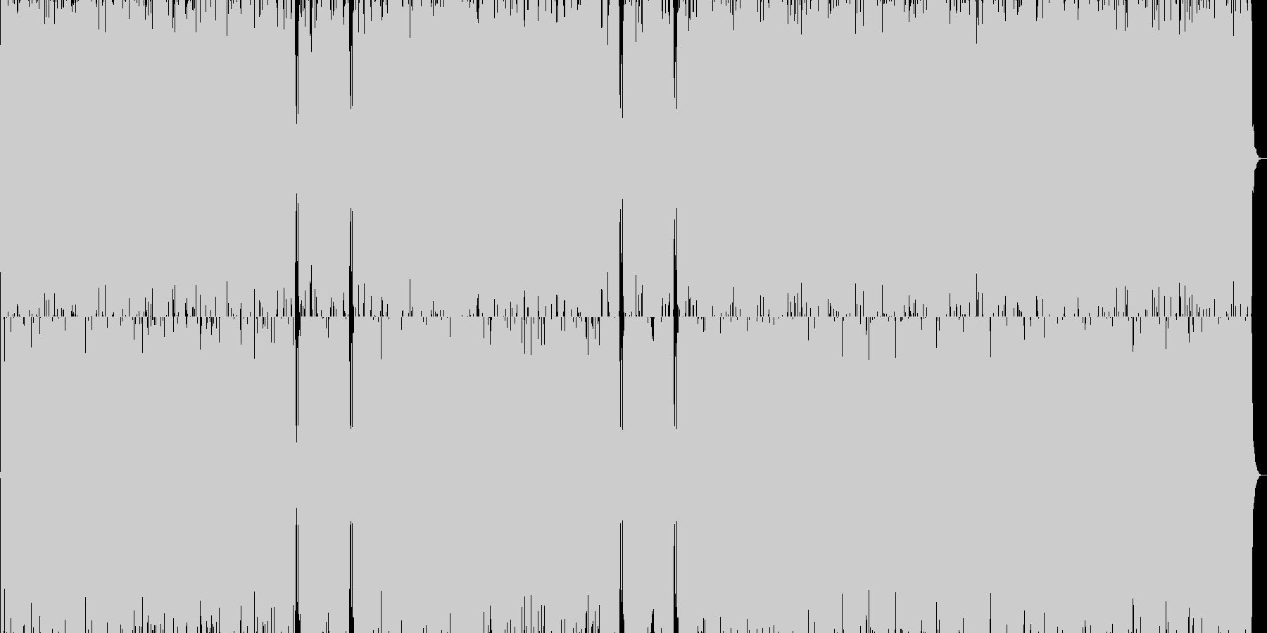 イントロが印象的な疾走系囁きロックの未再生の波形