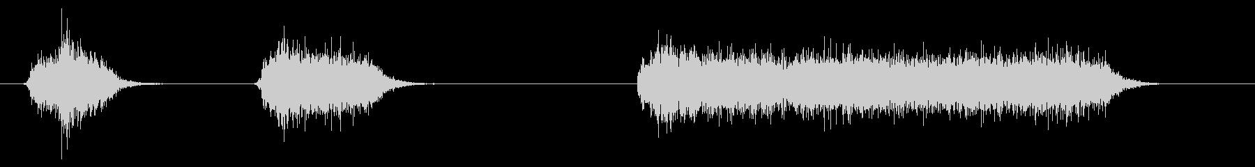 スプレー、エアブラシのシューッという音の未再生の波形