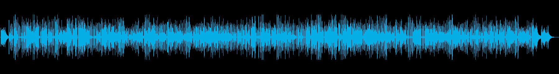 アコースティックギターのブルースの再生済みの波形