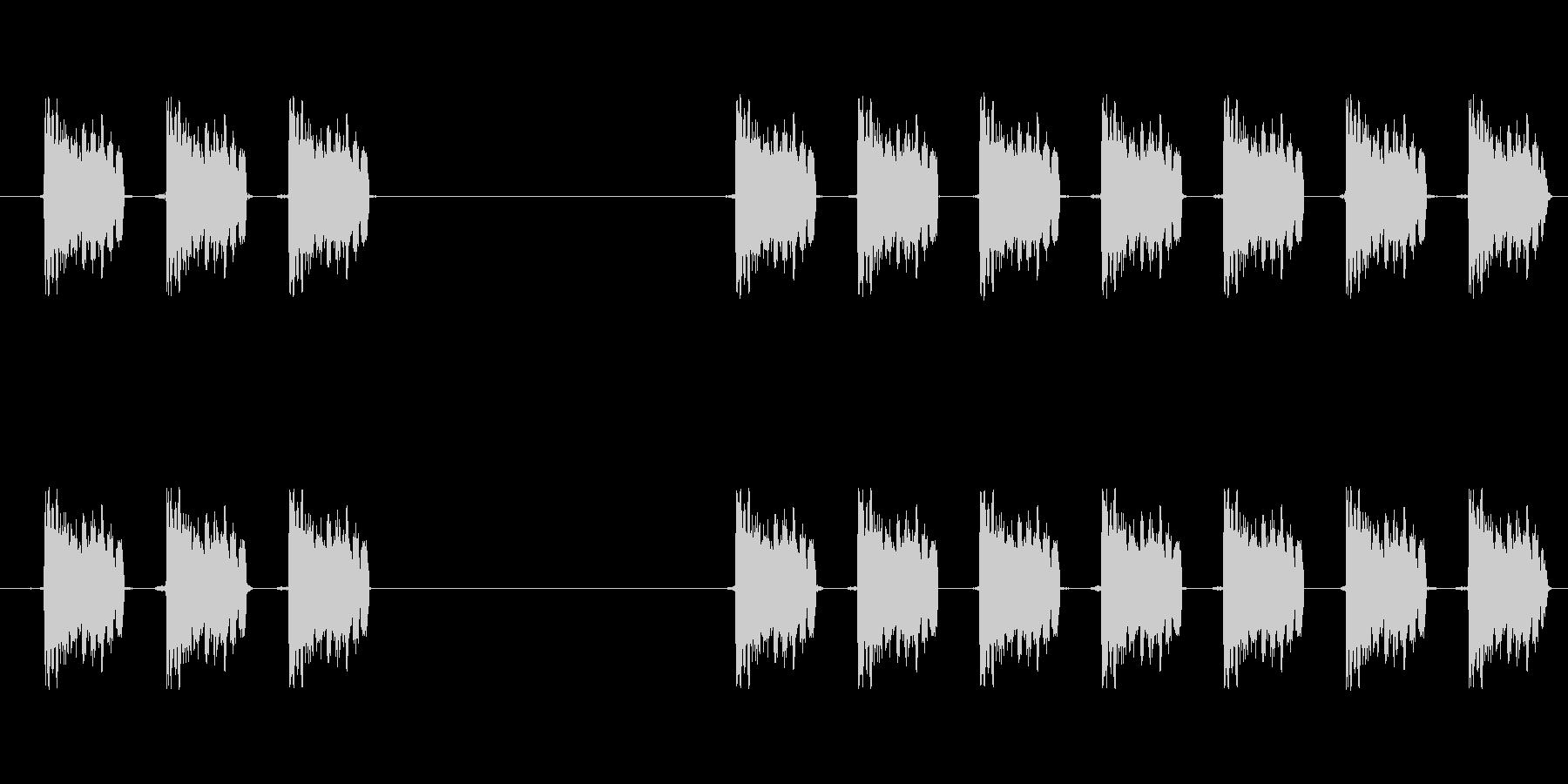 【スキャン・解析・アラーム・ロボット】の未再生の波形