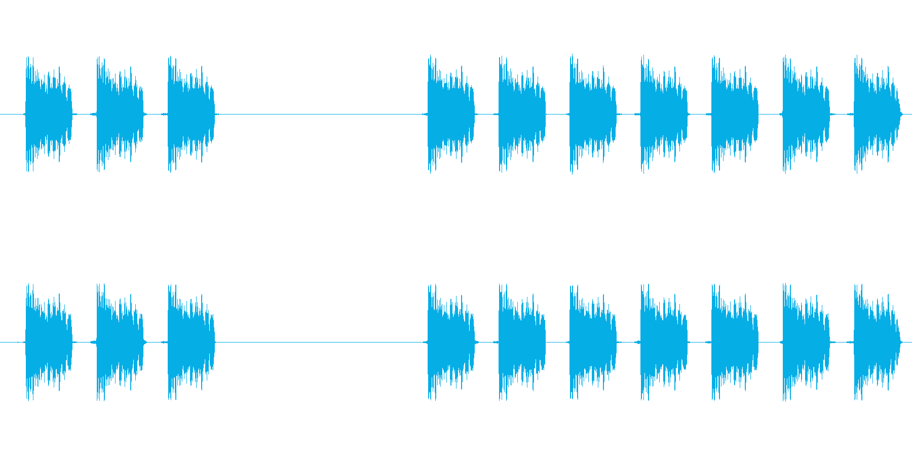 【スキャン・解析・アラーム・ロボット】の再生済みの波形