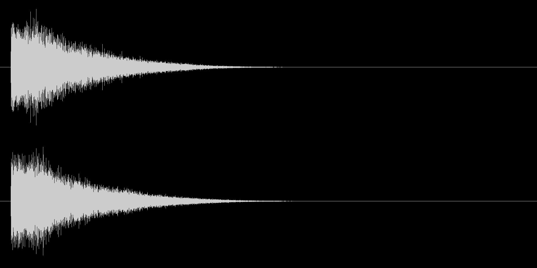 ビューーン(近未来的な武器のビーム音)の未再生の波形