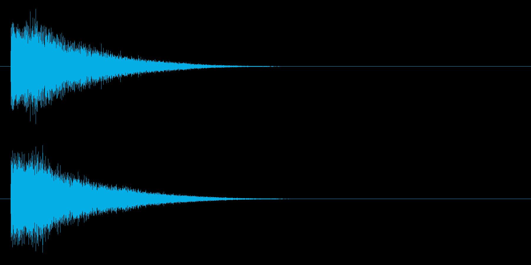 ビューーン(近未来的な武器のビーム音)の再生済みの波形